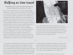 Garageland – Walking as time travel